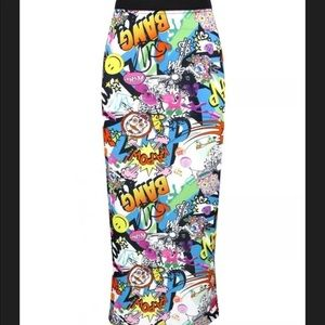 Dresses & Skirts - NWT Comic print cotton-feel maxi skirt
